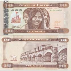 اسکناس 10 ناکفا - اریتره 2012
