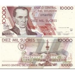 اسکناس 10000 ساکرس - اکوادور 1999 سری AP