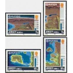 4 عدد تمبر مشترک اروپا - Europa Cept - جرسی 1982