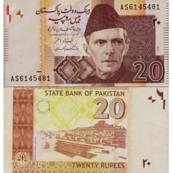 اسکناس 20 روپیه - پاکستان 2006 امضا شمشاد اختر