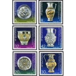 6 عدد تمبر اشیا هنری گنجینه روگزن - بلغارستان 1987