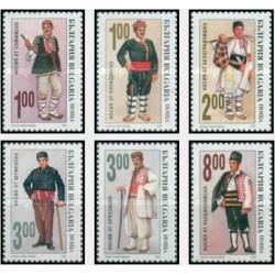 6 عدد تمبر لباسهای محلی - بلغارستان 1993