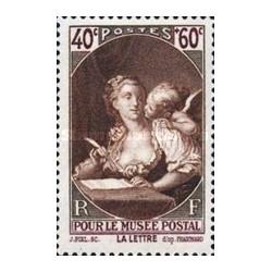 1 عدد تمبر خیریه - موزه پستی - نقاشی اثر فوروگنارد - فرانسه 1939