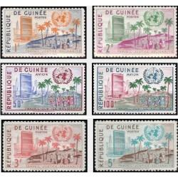 6 عدد تمبر سازمان ملل - جمهوری گینه 1959