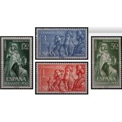 4 عدد تمبر روز تمبر - اسپانیا - فرناندو پو 1964