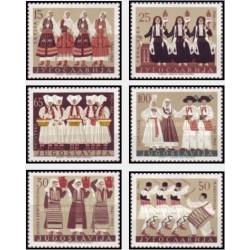 6 عدد تمبر لباسهای محلی - یوگوسلاوی 1961