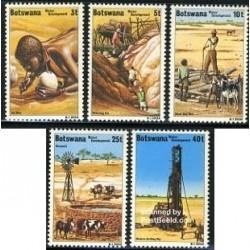 5 عدد تمبر توسعه آب - بوتسوانا 1979
