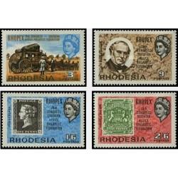 4 عدد تمبر نمایشگاه بین المللی تمبر فوپکس - زئیر - رودزیا 1966