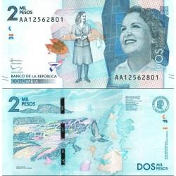 اسکناس 2000 پزو - کلمبیا 2015
