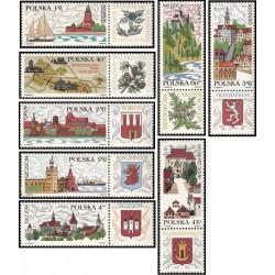 8 عدد تمبر توریسم - با تب - لهستان 1969