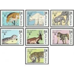 7 عدد تمبر حیوانات باغ وحش ورشو - لهستان 1978