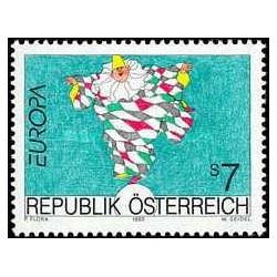 1 عدد تمبر مشترک اروپا - europa Cept - هنر - اتریش 1993 قیمت 2.6 دلار