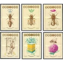6 عدد تمبر کنگره جهانی زنبورداری آپیموندیا 87 - ورشو - لهستان 1987