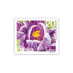1 عدد تمبر سری پستی - گلها و میوه ها - لهستان 2016