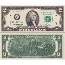 اسکناس 2 دلار - آمریکا 2013 سری E ریچموند - مهر سبز