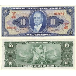 اسکناس 10 کروزرو - برزیل 1961