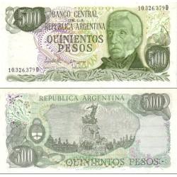 اسکناس 500 پزو - آرژانتین 1982