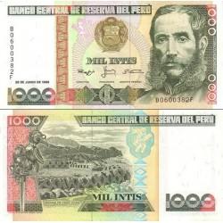 اسکناس 1000 اینتیس پرو 1988