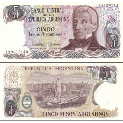 اسکناس 5 پزو - آرژانتین 1983