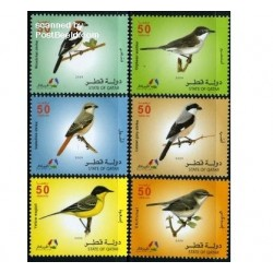 6 عدد تمبر پرندگان - قطر 2009
