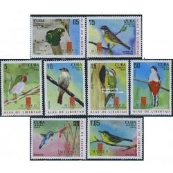 8 عدد تمبر موزه طبیعت (پرندگان) - کوبا 2008