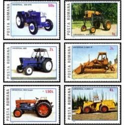 6 عدد تمبر تراکتورهای رومانی - رومانی 1985