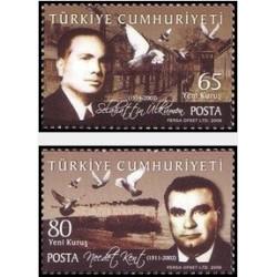 2 عدد تمبر انسانهای نمونه  - ترکیه 2008