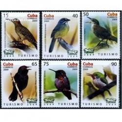 6 عدد تمبر پرنده -Turnat- کوبا 2009
