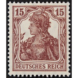 1 عدد تمبر از سری پستی - 15 فنیک - رایش آلمان 1920 با شارنیه