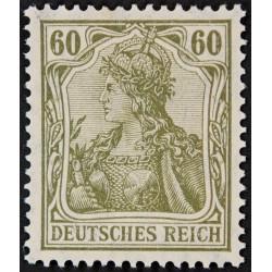 1 عدد تمبر از سری پستی - 60 فنیک - رایش آلمان 1920 با شارنیه
