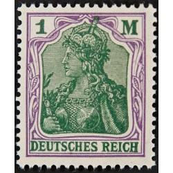 1 عدد تمبر از سری پستی - 1 مارک  - رایش آلمان 1920 با شارنیه