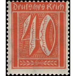 1 عدد تمبر از سری پستی - 40 فنیک  - رایش آلمان 1922 با شارنیه