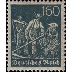 1 عدد تمبر از سری پستی - 160 فنیک  - رایش آلمان 1921 با شارنیه