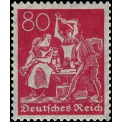 1 عدد تمبر از سری پستی - 80 فنیک  - رایش آلمان 1921 با شارنیه