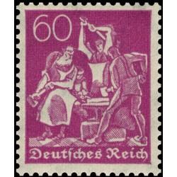 1 عدد تمبر از سری پستی - 60 فنیک  - رایش آلمان 1922 با شارنیه