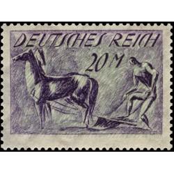 1 عدد تمبر از سری پستی - 20 مارک  - رایش آلمان 1921 با شارنیه