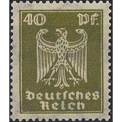 1 عدد تمبر از سری پستی عقابی - 40 فنیک  - رایش آلمان 1924 با شارنیه  کیفیت 95% - قیمت 85 دلار