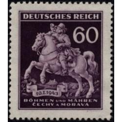 1 عدد تمبر روز تمبر - بوهمیا و موراویا 1943