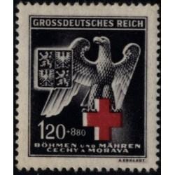 1 عدد تمبر صلیب سرخ - بوهمیا و موراویا 1943
