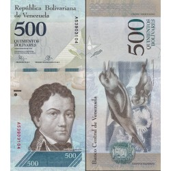 اسکناس 500 بولیوار - ونزوئلا 2016 تاریخ 18.08.2016