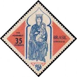 1 عدد تمبر کریستمس - برزیل 1966