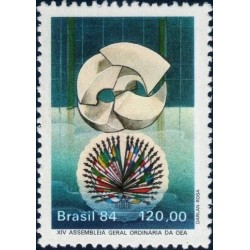 1 عدد تمبر 14مین مجمع عمومی سازمان کشورهای آمریکائی - برزیل 1984