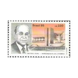 1 عدد تمبر بزرگداشت رئیس جمهور منتخب ترانسدو نوس - برزیل 1985