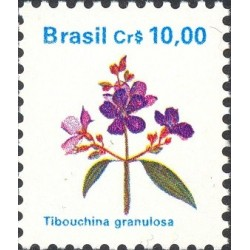 1 عدد تمبر سری پستی گلها - برزیل 1990