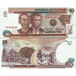 اسکناس 10 پیزو - فیلیپین 2000
