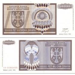 اسکناس 5.000.000 دینار - بوسنی و هرزگوین 1993