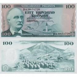 اسکناس 100 کرون - ایسلند 1961 امضا در توضیحات را ببینید
