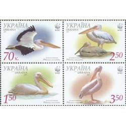 4 عدد تمبر پلیکانها - WWF - اکراین 2007
