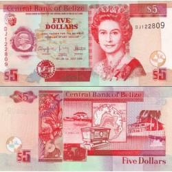 اسکناس 5 دلار - بلیز 2009