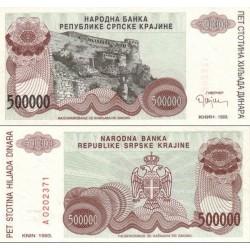 اسکناس 500.000 دینار - کرواسی 1993